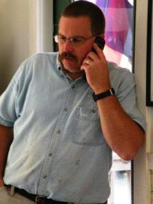 jared pendleton talking on cell phone