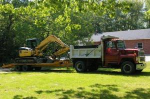 pendleton truck with backhoe